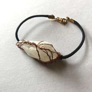 Crystal quartz tree of life bracelet